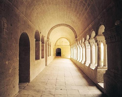 Interior view of the cloister, founded in 1148