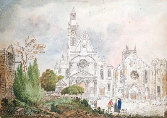 Facade of the Old Church of Saint-Genevieve and Saint-Etienne-du-Mont, 1807