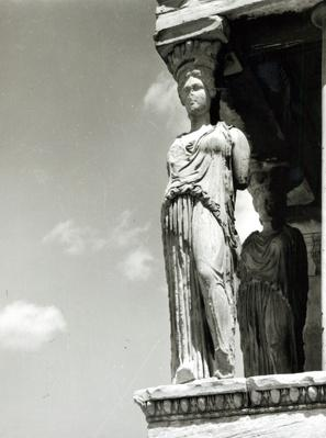 Detail of a caryatid from the Erechtheion, 421-406 BC