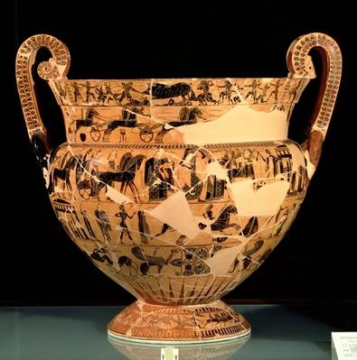 Side B of the Francois Vase, made by Ergotimos