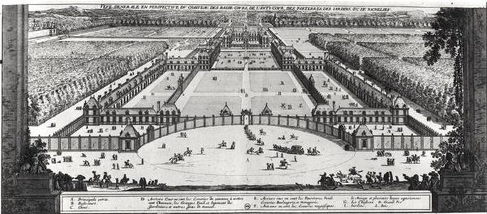 General Perspective View of the Chateau and Gardens of Richelieu