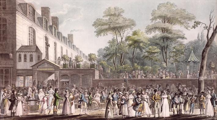 Promenade in the Turkish Garden, Boulevard du Temple, 1810