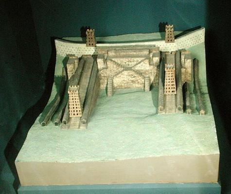 Model of the constructions of Julius Caesar