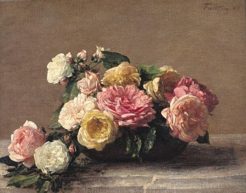Roses in a Dish, 1882
