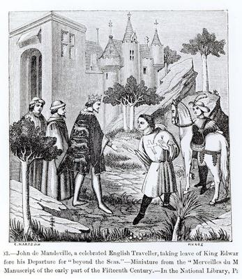 John de Mandeville taking leave of King Edward III