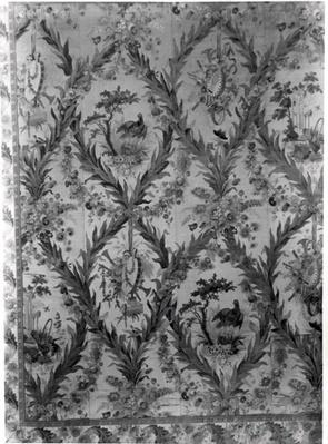 Silk wallcovering from the Empress's Bedroom, 1787