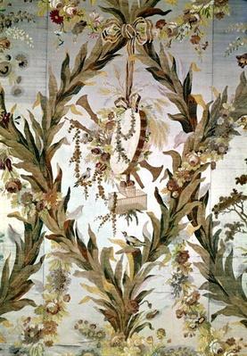 Mural silk of the Empress' Bedroom, 1787