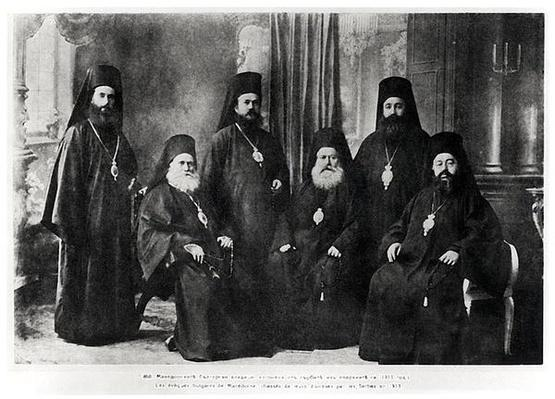 Bulgarian Bishops of Macedonia chased away from their diocese by Serbs, 1913