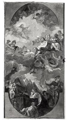 Apotheosis of St. Louis, sketch for the ceiling of the church San Luigi dei Francesi, Rome, 1754-56
