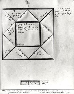 Ms.Fr.12293 fol.49 Horoscope of Petrarch