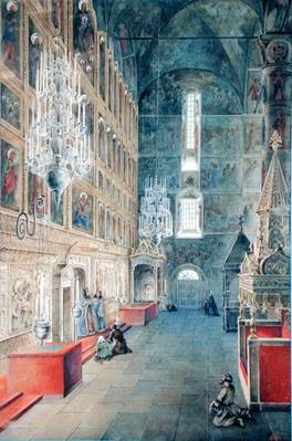 Interior of the Assumption Cathedral of the Moscow Kremlin, 1819