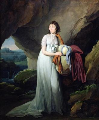 Portrait of a Woman in a Cave, possibly Madame d'Aucourt de Saint-Just, 1805