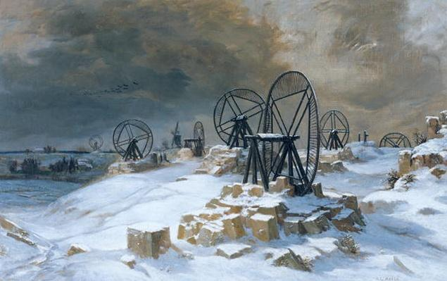 Pits at Gentilly in the Snow, 1879
