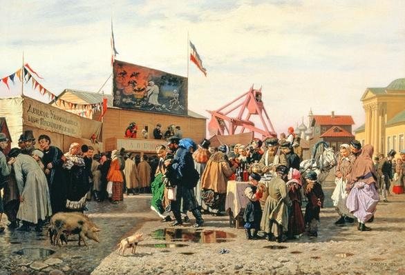 Stalls for Easter Week in Tula, 1868