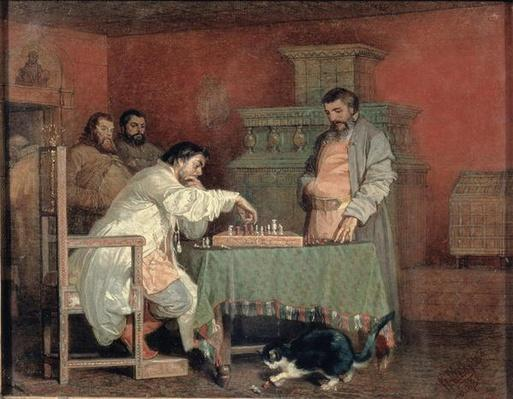 Scene from the Life of the Russian Tsar: Playing Chess, 1865