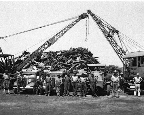 Scrap Metal Pile in Mobile | Ken Burns: The War