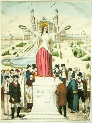 France Crowning the Arts and Industry with Laurel Wreaths at the Exposition Universelle of 1878 in Paris