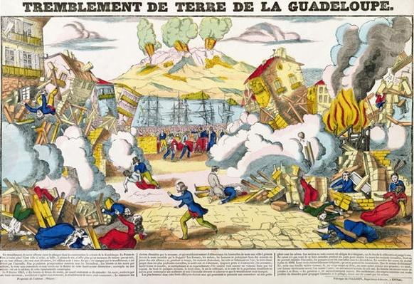 Earthquake in Guadeloupe on 8th February 1843, Imagerie Pellerin, Epinal