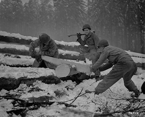 Sawing Wood in the Hürtgen Forest | Ken Burns: The War