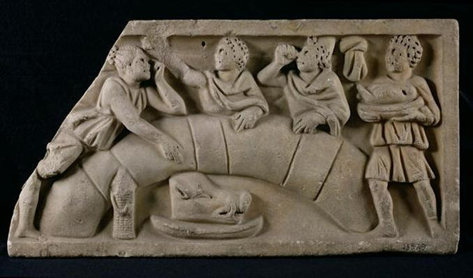 Relief depicting a funerary meal
