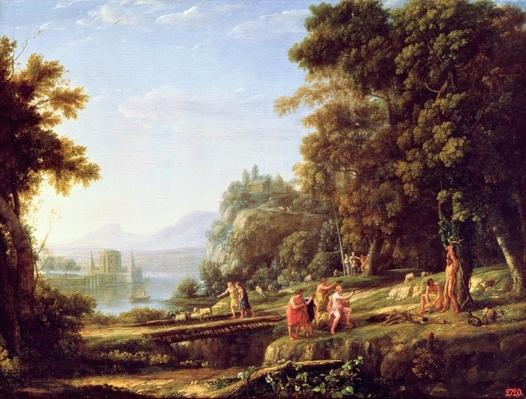 Landscape with Apollo and Marsyas, 1639-40