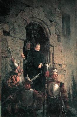 Arrest of the Huguenot Jacqueline de Montbel d'Etremont