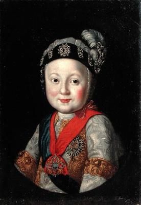Portrait of Grand Duke Pavel Petrovich as a Child, 2nd half of 18th century