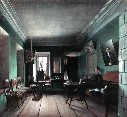 Interior of Bykov's House, 1850s