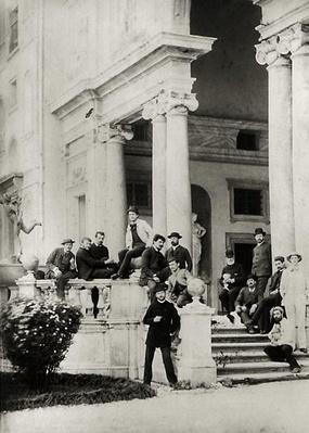 Residents of Villa Medici in Rome, photo sent and dedicated by Claude Debussy