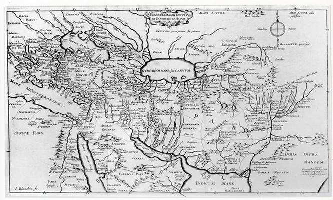 Map of the Travels and the Expeditions of Alexander the Great