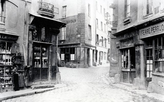 Crossroads of the Fromentel, Saint-Hilaire, Jean-de-Beauvais, Charretiere et Mont-de-Marsan streets, Paris, 1858-78