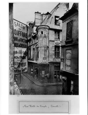 Rue Vieille-du-Temple, Paris, 1858-78