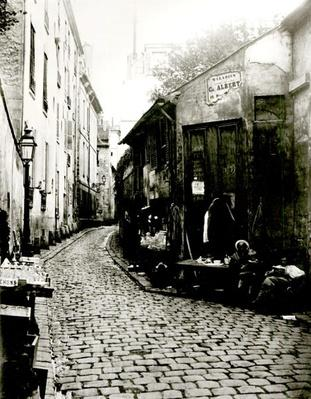 Rue du Jardinet and the cul-de-sac of Rohan, Paris, 1858-78