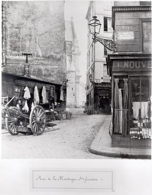 Rue de la Montagne Sainte-Genevieve, Paris, 1858-78