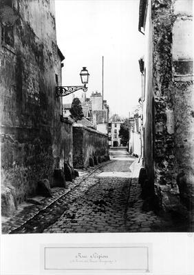 Rue de Scipion, from the Rue des Francs-Bourgeois, Paris, 1858-78