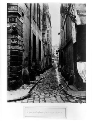 Rue du Croissant, from the Rue du Sentier, Paris, 1858-78