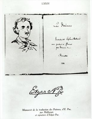Title Page of 'Les Poemes' by Edgar Allan Poe