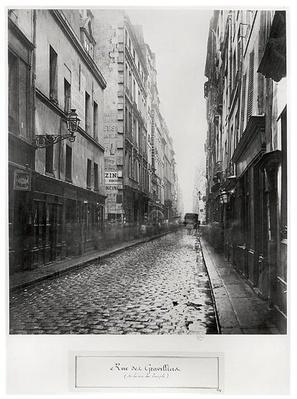 Rue de Gravilliers, from the rue du Temple, Paris, 1858-78