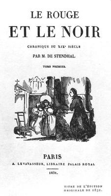 Title Page of the First Edition of 'The Red and the Black' by Stendhal