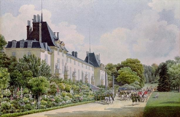View of the Garden Facade of the Chateau, from a collection of twelve 'Views of the Malmaison'