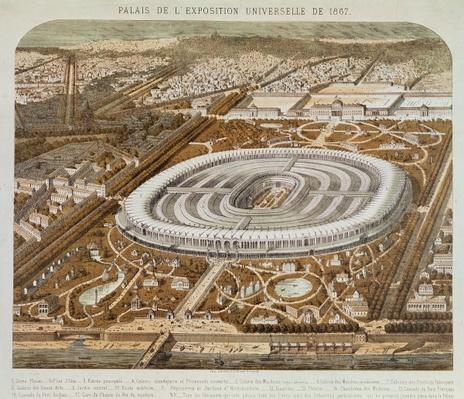 Palace of the Universal Exhibition in Paris in 1867