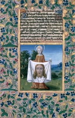 Ms Lat. Q.v.I.126 f.90v St. Veronica, from the 'Book of Hours of Louis d'Orleans', 1469