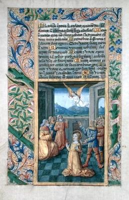 Ms Lat. Q.v.I.126 f.45v Judith praying, from the 'Book of Hours of Louis d'Orleans', 1490