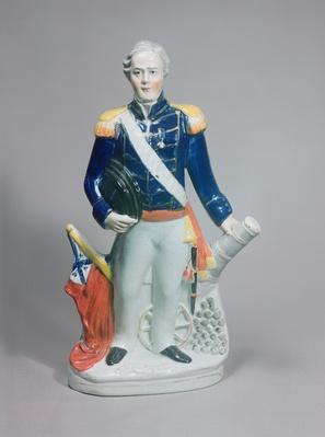 Staffordshire figure of Sir James Dundas, c.1854