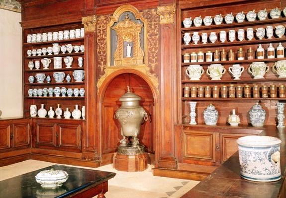 The pharmacy of the Saint-Jean Hospital, 17th-18th century