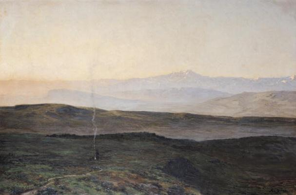 View of the Pyrenees from Plague