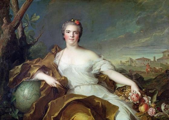Louise-Elisabeth de France, as the element of Earth. 1750-1