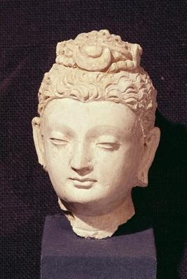 Head of a Buddha, Greco-Buddhist style, from Hadda