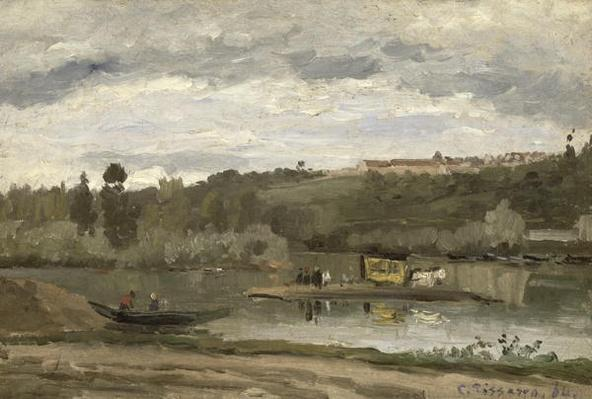 Ferry at Varenne-Saint-Hilaire, 1864