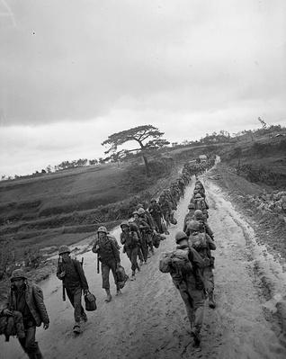Troops Pass on Okinawa on VE-Day | Ken Burns: The War